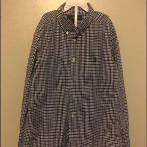 Boy Long Sleeve Ralph Lauren Polo Shirt Size14-16